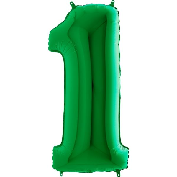 Folienballon Zahl 1 Grün 100cm