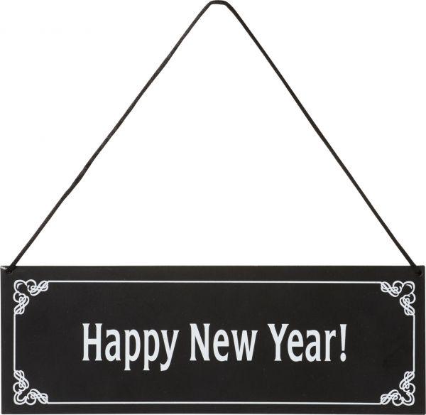 Dinner for One - Metall Türschild Happy New Year!
