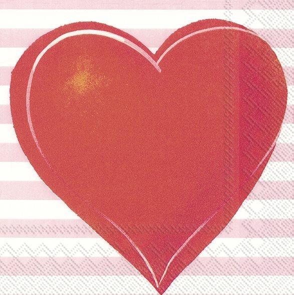 """20 Papierservietten """"großes Herz"""""""