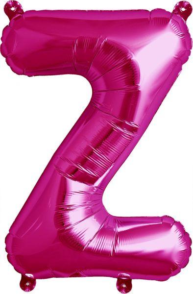Luftballon Buchstabe Z Pink 40cm