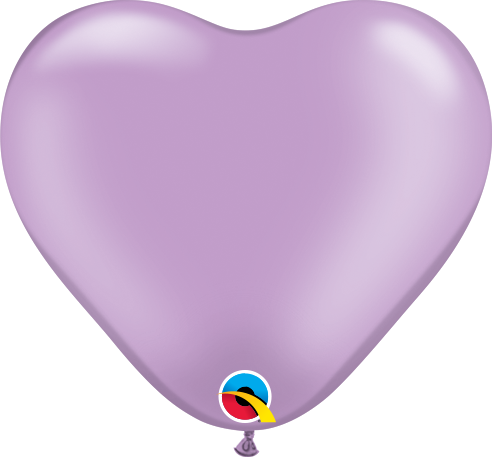 Qualatex Herzballon Pearl Lavendel 15cm
