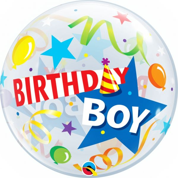 Bubble Ballon Birthday Boy 56cm