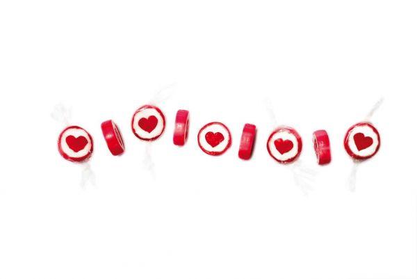 Handgemachte Herz-Bonbons Rot
