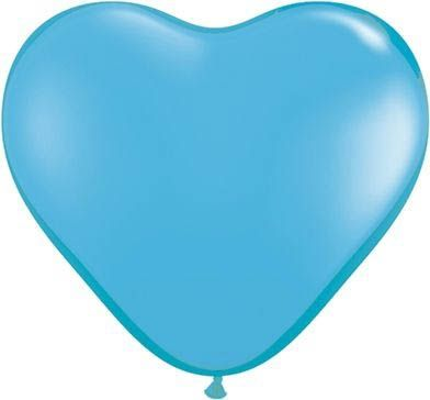 Qualatex Latexballon Herz Pale Blue Ø 15cm