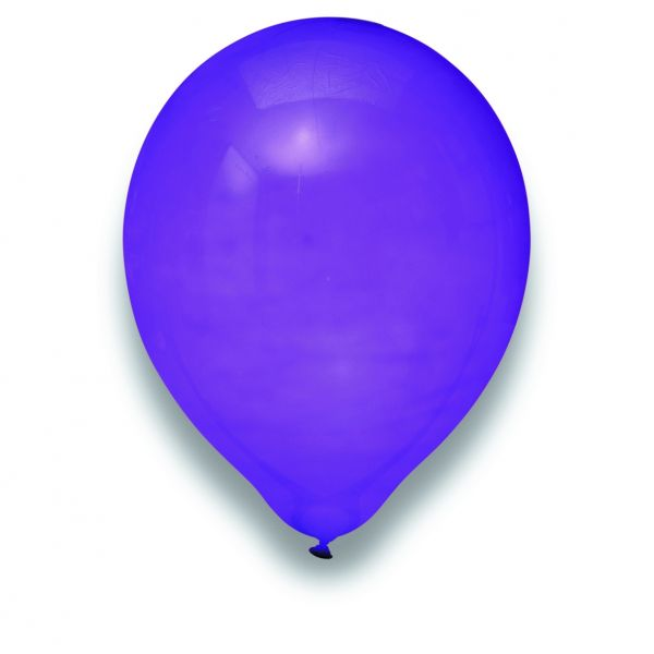 Latexballon Kristall Lila 100 Stück Ø 30cm