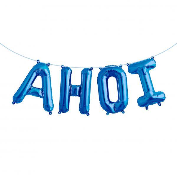"""Folienballon Girlandenset """"AHOI"""" Blau"""