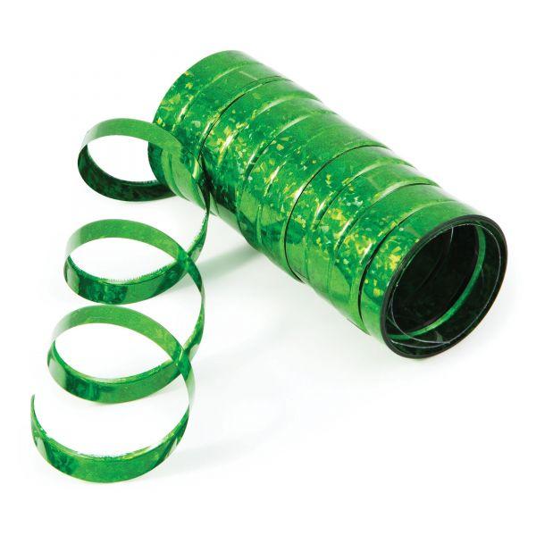 Holo-Folienluftschlangen Grün