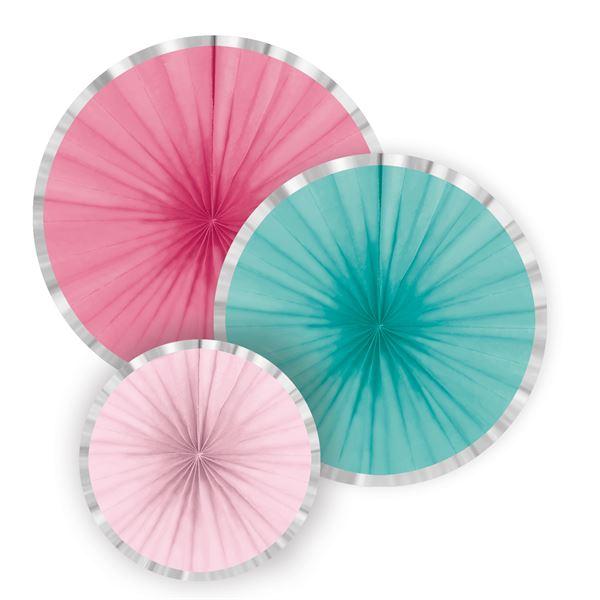 Pink & Türkis - 3 Deko-Fächer