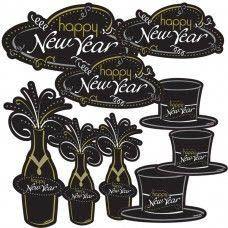 Deko Cutouts Happy New Year 30 tlg.