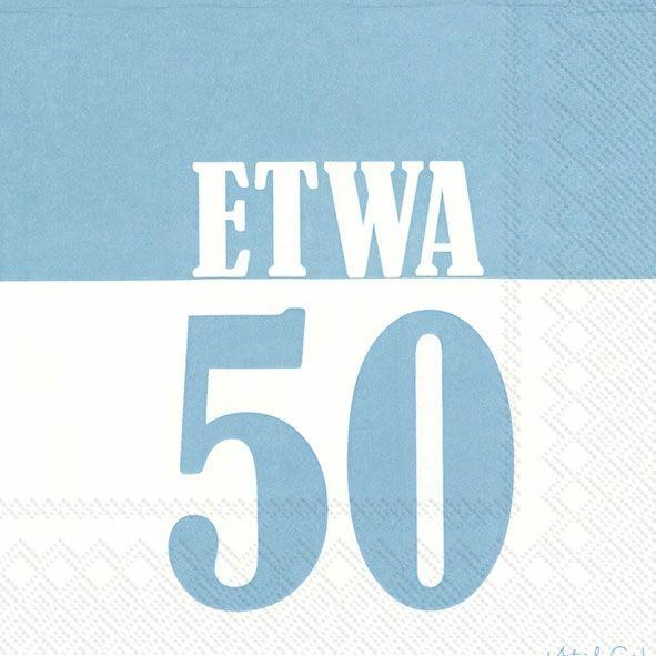 Etwa 50 - 20 türkisblaue Geburtstags-Servietten