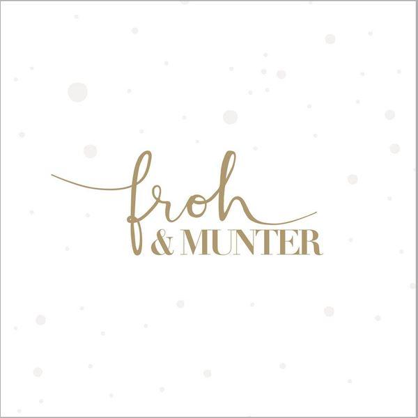 20 Weihnachtsservietten Froh & Munter